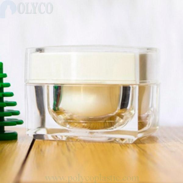 Square 10gr transparent plastic jar