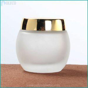 Round glass jar 100ml plastic lid