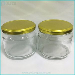 300ml glass jar with gold lid