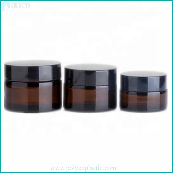 Glass jar for high-end brown cosmetics