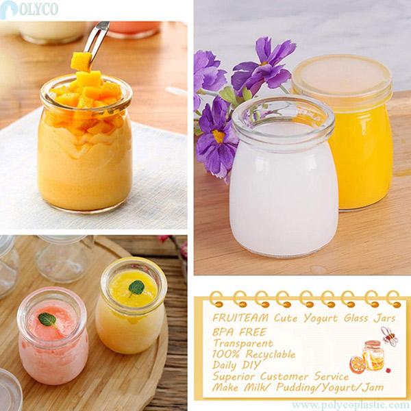 Glass jar for cheap yogurt 150ml