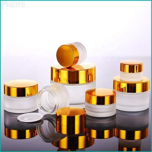 Glass jar with high quality aluminum lid
