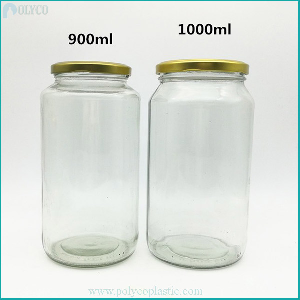 Glass jar with tin lid 1 liter
