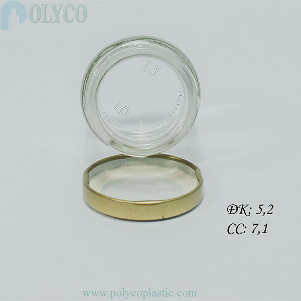 Round glass jar containing swallow's nests 70ml